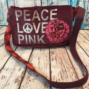 Peace Love PINK Crossbody Bag